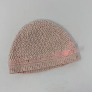 Infant Girls Pink Knit Beanie Size 0-3 Months